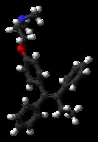 Tamoxifen 3D Molecule Structure